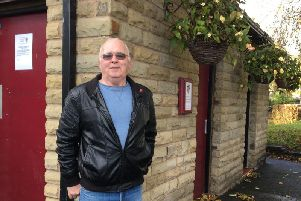 Former mayor Coun Paul Byrne outside the now closed Longridge  public toilets