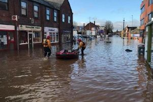 Worksop was hit badly by flooding.