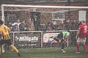 Goal! Worksop Town hit four against Cleethorpes Town.