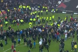 Football disorder at Mansfield FC's away match against at MK Dons FC last season.