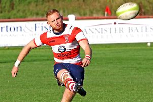 Damon Hall scored Vale of Lune's try. Picture: Tony North.