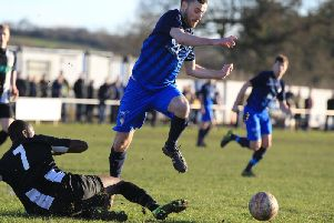 Adam Scott scored a hat-trick for Retford.