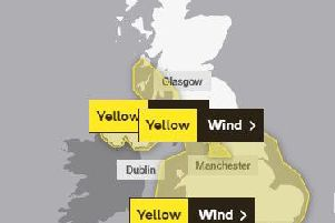 A yellow weather warning is in place for most of the country. Picture courtesy of the Met Office