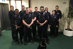 Officers from the Safer Neighbourhood Team at Worksop were aided by police dog Dash