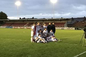 The Fylde Under-18s celebrate their county success