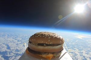 The burger in space.
