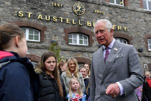 The Prince of Wales during a visit to Cornwall last week to support the pub inudstry.