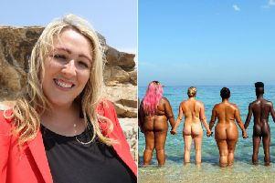 This is the woman from Yorkshire who is bravely stripping off on national telly in a new programme where contestants are encouraged to bare all.