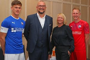 Technique Training have become Chesterfield's new shirt sponsors (Pic: Tina Jenner)
