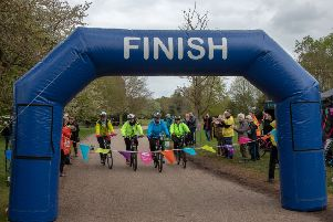 Four members of staff at Clumber Park cycled for 24 hours continuously around Clumber Lake to raise more than �20,000 for restoration works on the Ornamental Bridge.