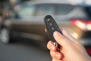 Keyless-entry car.