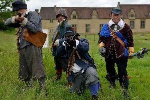 The dreaded siege of 1644 came back to Bolsover Castle at the weekend.