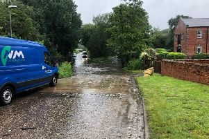 Motorists are being urged to avoid Rufford Lane, due to the ford flooding the road, making it impassable.