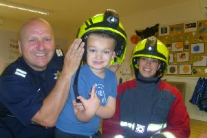 Children from Busy Bees Nursery were visited by firefighters