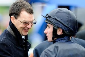 Trainer Aidan O'Brien and jockey Ryan Moore, who could be in for a big day at Royal Ascot today. (PHOTO BY: Alan Crowhurst/Getty Images)