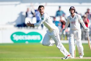 High drama: Yorkshire's Duanne Olivier celebrates as he takes the final wicket of Surrey's Gareth Batty to seal victory. Picture: SWPix