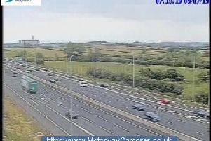 Junction 24 northbound of the M1.