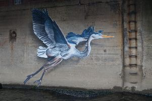 The Grey Heron is designed to be submerged and then reappear as the river level changes.