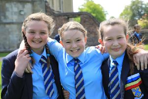 Students at Barlborough Hall School celebrate 'excellent' SATs results. Photo: Barlborough Hall School.
