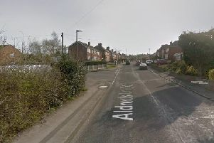 Tracy Quimby,48, from the Langley Mill area, was walking along Aldreds Lane at around 12.30amwhen the collision happened. Photo: Google.