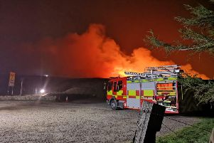The scene of a recent moorland blaze in West Yorkshire.
