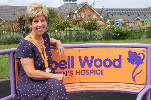 Helen Mower, who is stepping down as head of fundraising at Bluebell Wood children's hospice.