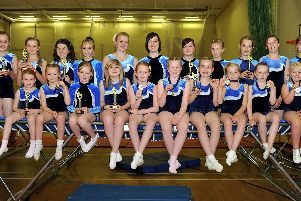 2010: Valley Springs Trampoline Club pictured at Worksop Leisure Centre with their trophies from the regional and club competitions at Nottingham. Are you on this picture?