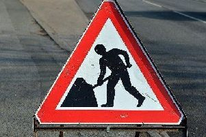 The roadworks will resume on Monday