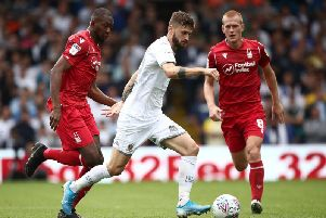 BUSY: Leeds United midfielder Mateusz Klich in Saturday's 1-1 draw against Nottingham Forest.