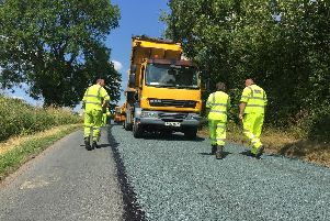 """The """"surface dressing"""" technique has been credited with a reduction in the number of potholes across Lancashire"""