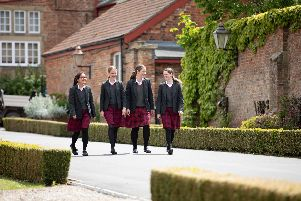 Queen Margarets is an independent girls boarding school which welcomes day girls