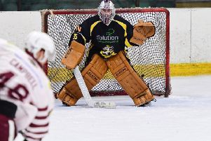 COUNT ME IN: Goaltender Miles Finney isx excited about the challenge facing him at Leeds Chiefs. Picture courtesy of Colin Lawson.