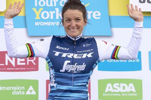 Local hero and one of the world's greatest cyclists - Lizzie Deignan, from Otley who has strong Harrogate connections. (Picture by Bruce Rollinson)