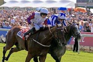 Laurens. left, finsihed fourth in the Matron Stakes at Leopardstown