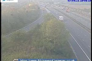 M1 junction 24 southbound