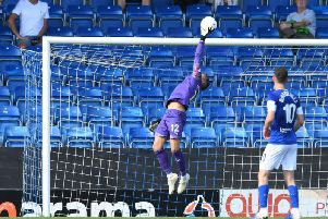 Chesterfield goalkeeper Luke Coddington.