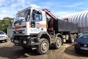 The lorry involved in the incident. Photo: HSE