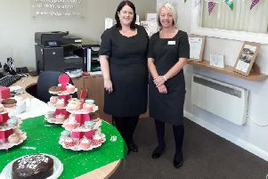 Martina Nicholson and Jane Johnson hosted a Macmillan Coffee Morning at Bamber Bridge Co-op Funeralcare.