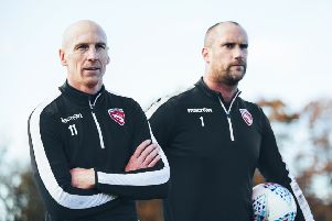 Kevin Ellison and Barro Roche are overseeing first-team matters after Jim Bentley's departure (picture: Morecambe FC)