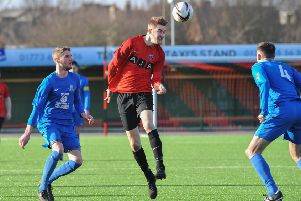 New signing Joe Butler, who bagged his first goal for Hucknall Town in Saturday's 7-1 win at Clipstone.