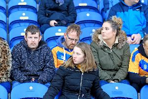 Stags supporters at Mansfield Town v Cheltenham Town.