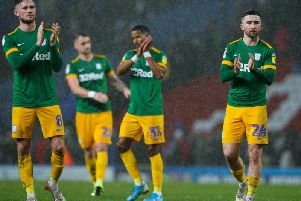 Alan Browne, Patrick Bauer, Scott Sinclair and Sean Maguire applaud the away fans