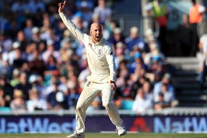 HEADING HOME: England's Jack Leach. Picture: Mike Egerton/PA