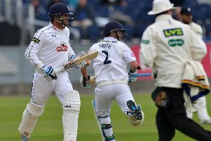 Sean Ervine (left), who has joined Derbyshire on loan until the end of the season. (PHOTO BY: Frank Reid)