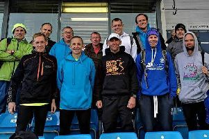 Some of the runners who took part in the Northern Road Relays for the club.