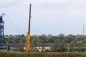 The Preston New Road fracking site the day before fracking was due to start after a court injunction seeking to halt it was rejected