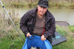 In-form Steve Pearson with part of the 114lb catch that gave him the first win at the newly reopened Kippax Park Osprey Lake.
