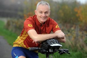 Gary Hudson is preparing to cycle across Vietnam and Cambodia. Picture: Tony Johnson.