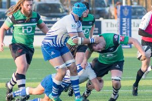 Match action from Preston Grasshoppers clash with Peterborough Lions'Photo: Mike Craig