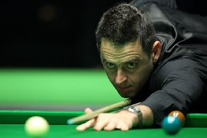 Ronnie O'Sullivan in action at York.
